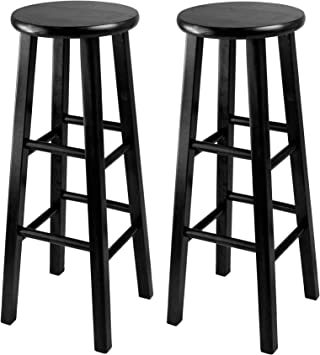 Winsome 29 Inch Square Leg Bar Stool Black Set Of 2 Furniture Decor