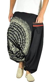 d3d29886415b0 virblatt Pantaloni alla Turca Donna Pantaloni Etnici Larghi Donna Harem  Pants Yoga - Nirvana