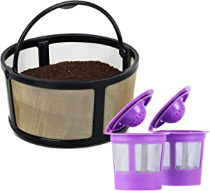 2-Pack Refillable K Cups Pod With Reusable Mesh Ground Coffee Filter Basket Fit for Keurig K-Duo Essentials and K-Duo Brewer Machine