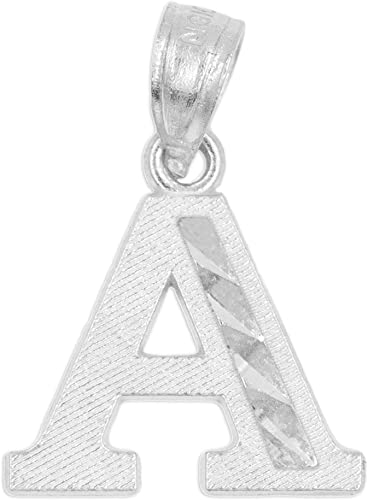 "Diamonds Initial Letter /""I/"" 925 Sterling Silver Pendant Jewelry DIAM-I"
