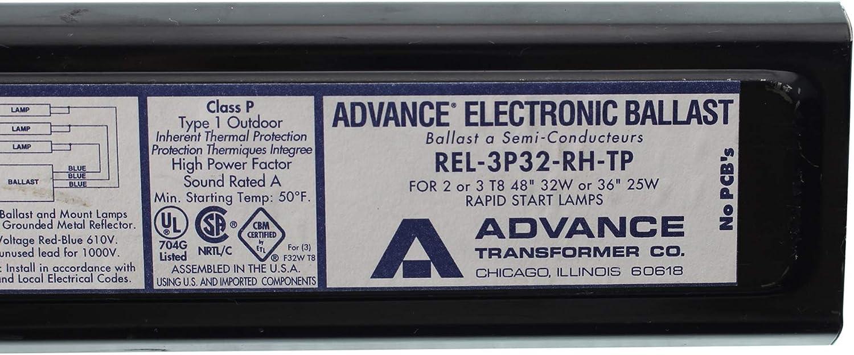 Advance electronic ballast  4 bulbs t8 REL-4P32-RH-TP