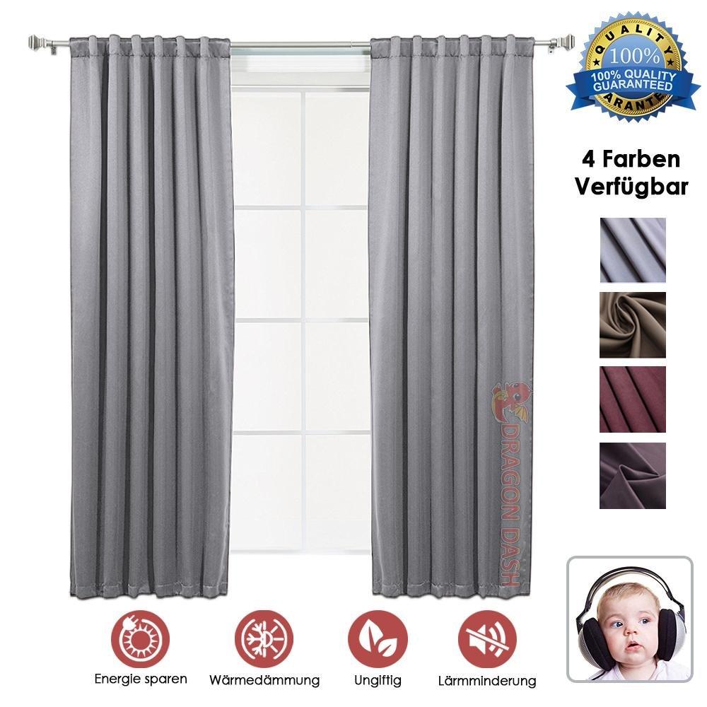 Super Dash Braun 1 Stück Schalldämmung Wärmedämmung Verdunkelungsfenster Vorhänge Schalldämmung Verdunkelung Fenster Vorhänge SD1145 1,3 x 1,8 m