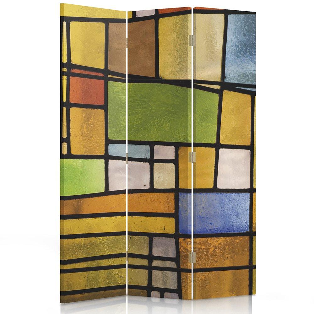 Feeby Frames - Paravent Intérieur - Paravent toile - Paravent déco - Cloison de séparation - Paravent 2 faces - 3 panneaux