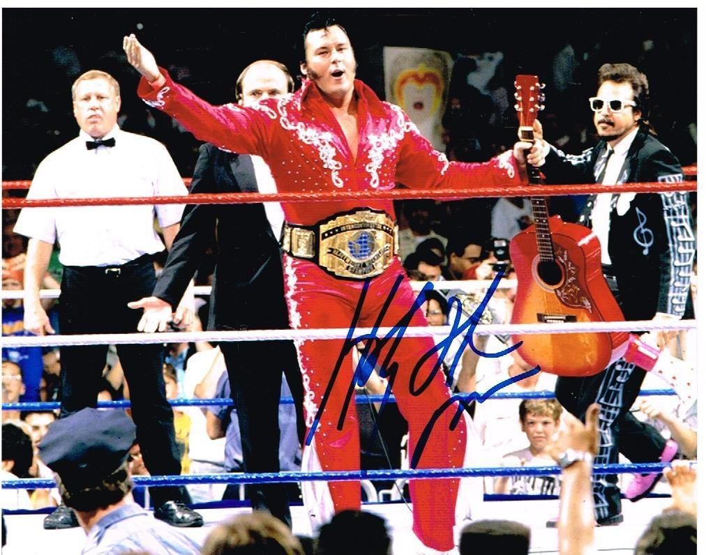Wwe Wwf Honky Tonk Man Autograph Autographed Signed 8x10 Photo - Autographed Wrestling Photos Baseball Card Outlet