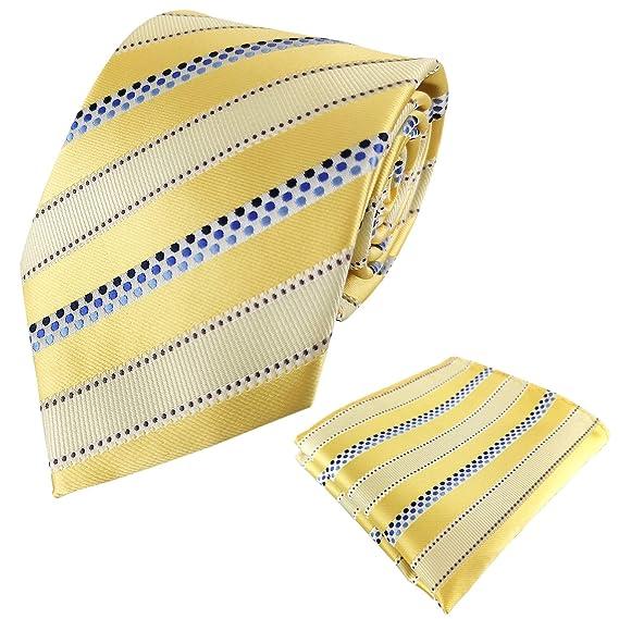 KOOELLE Mens Necktie Polka Dots Jacquard Tie Set with Pocket Square