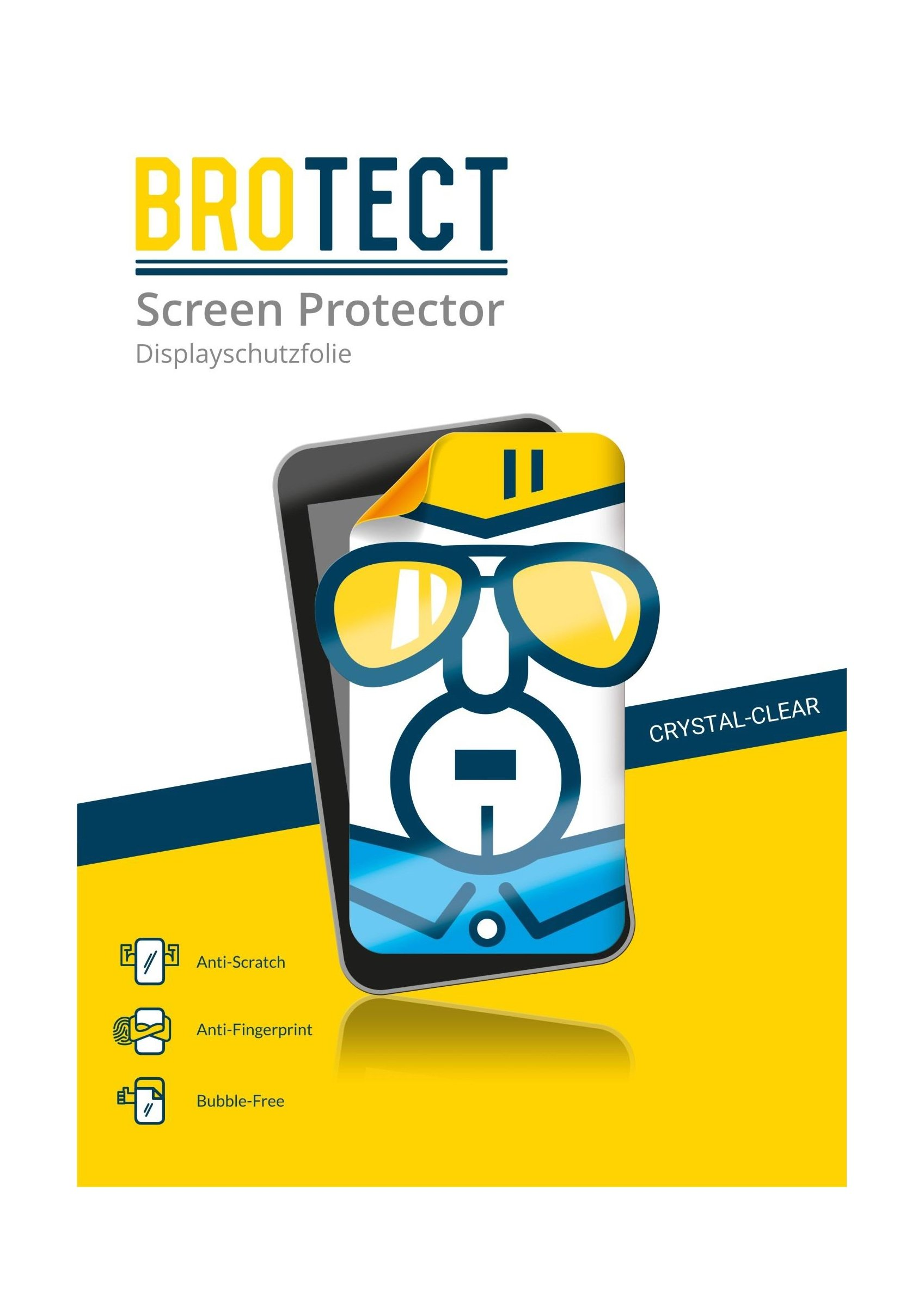 2X BROTECT HD-Clear Screen Protector for Pidion BP80, Crystal-Clear, Hard-Coated, Dirt-Repellent