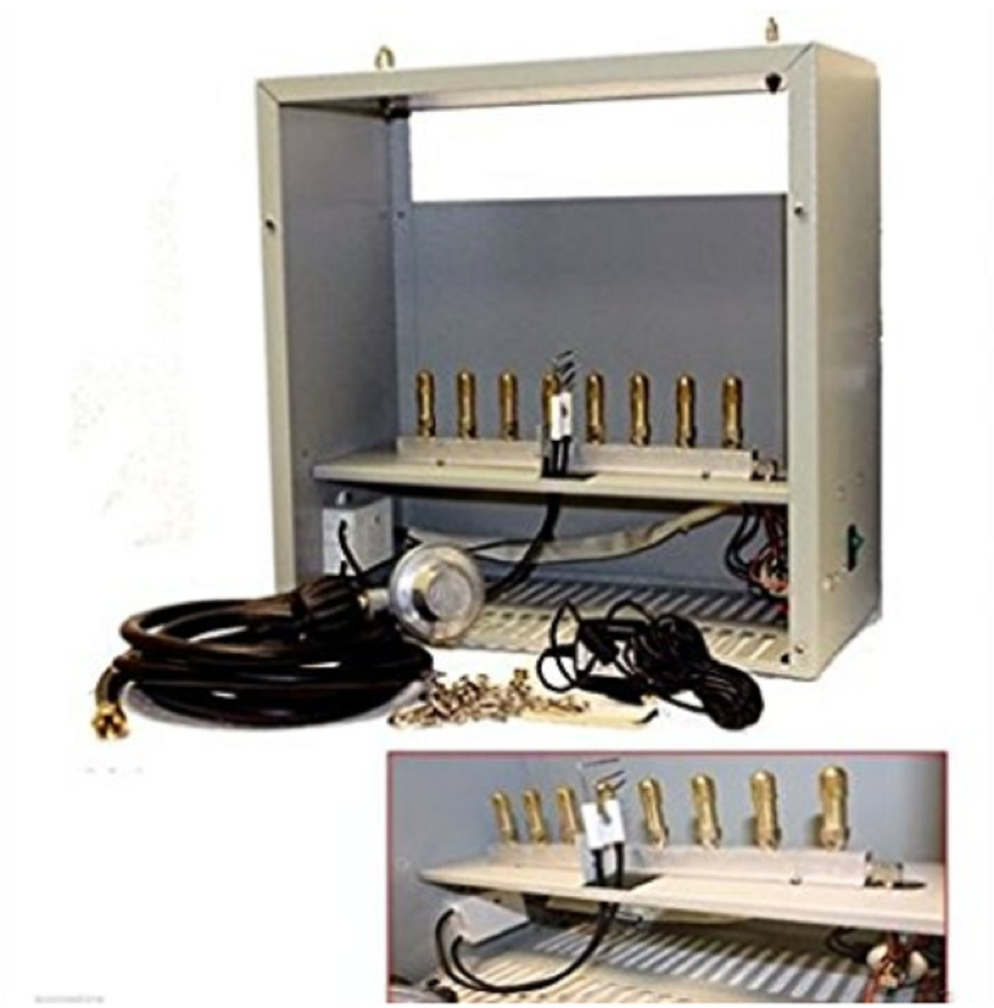 USA Premium Store Hydroponic Grow CO2 Generator 8 Burner LP Propane Gas Burners 22,400 BTU by USA Premium Store