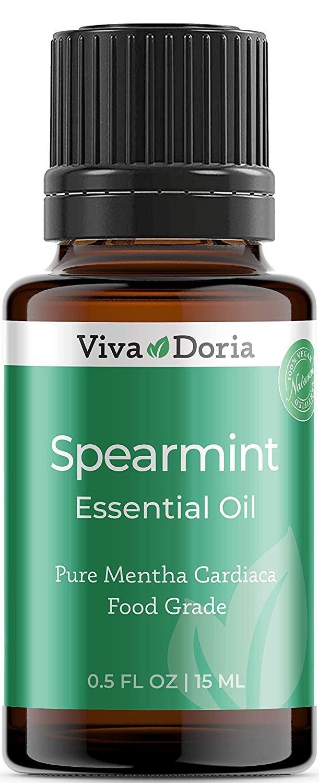 Viva Doria 100% Pure Spearmint Essential Oil, Undiluted, Food Grade, Spearmint oil, 15 mL (0.5 fl oz)