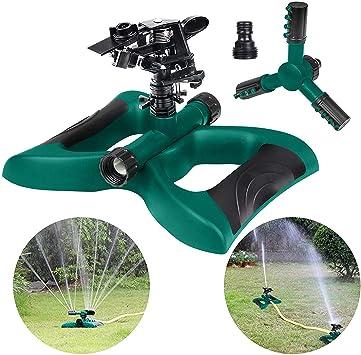 Hltd Aspersor de Riego en Jardín automático Rotación de 360 °, Sistema de riego Giratorio automático para jardín, jardín, césped, Patio y con 2 aspersores: Amazon.es: Electrónica