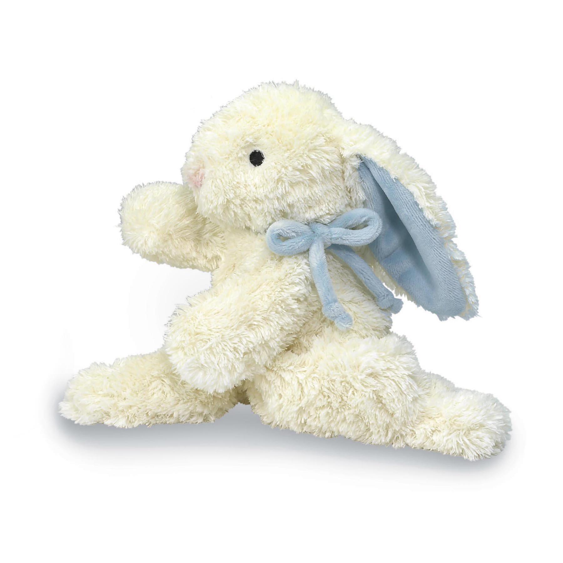 """North American Bear Loppy Bunny Plush Toy, Blue, 10"""""""