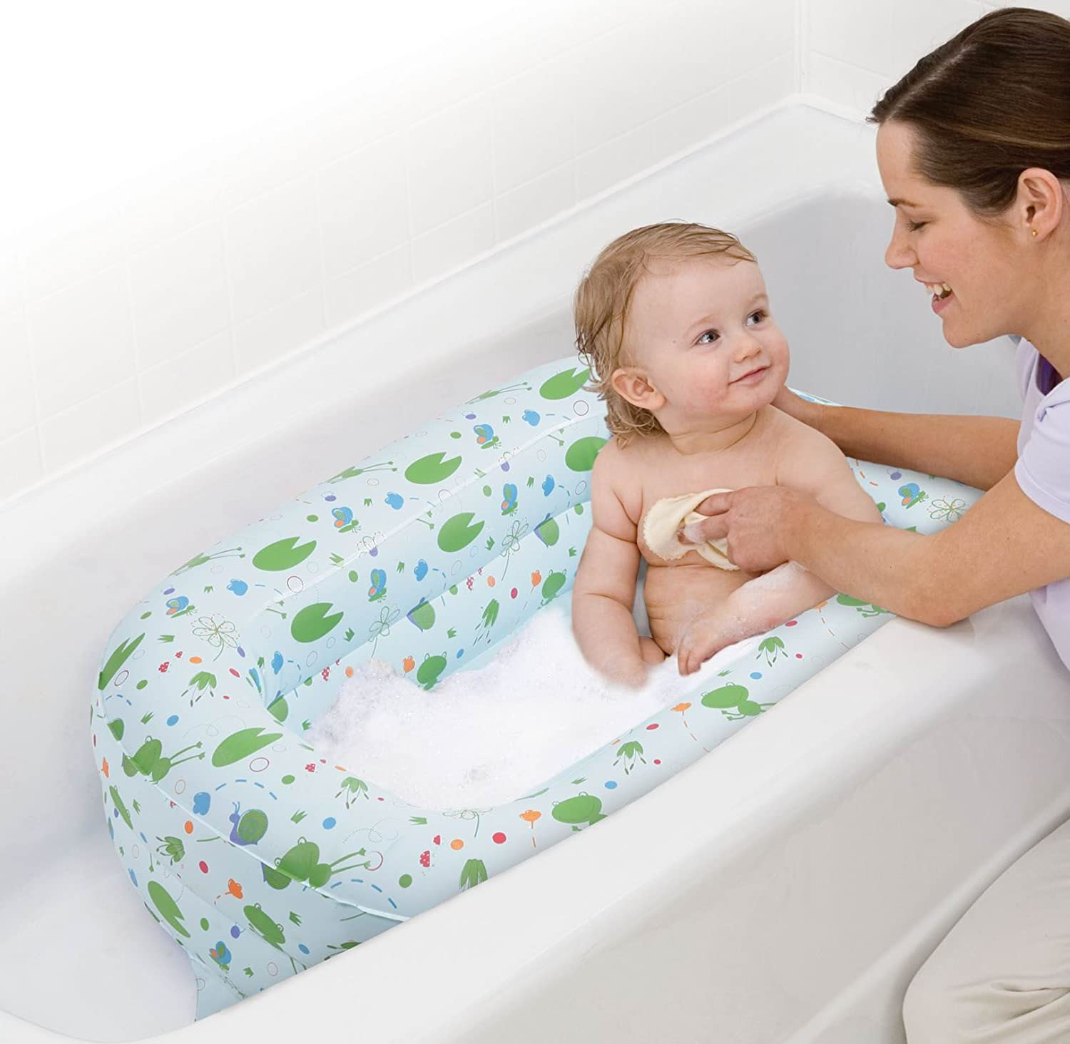 Amazon.com : Safety 1st Kirby Inflatable Tub : Baby Bathing Seats ...