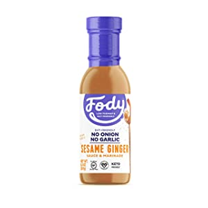 Fody Foods Vegan Sesame Ginger Sauce Marinade | Avocado Oil | Low FODMAP Certified | Gut Friendly No Onion No Garlic No MSG | IBS Friendly | Gluten Free Lactose Free