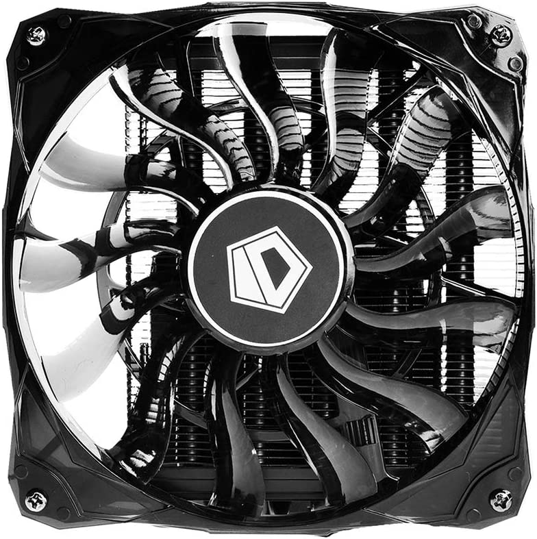 ID-COOLING IS-50X AM4 and LGA115X 55mm Height Mini-ITX Low Profile Cooler with 120mm Big Airflow Fan, Black Edition