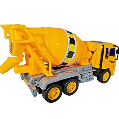 ANJ Kids 2020 Holiday Construction Toys Series – Dump Truck, Concrete Mixer Toy Truck, Crane and Lift Crane Toy Trucks – Friction Powered Car Toys (Concrete Mixer): Toys & Games