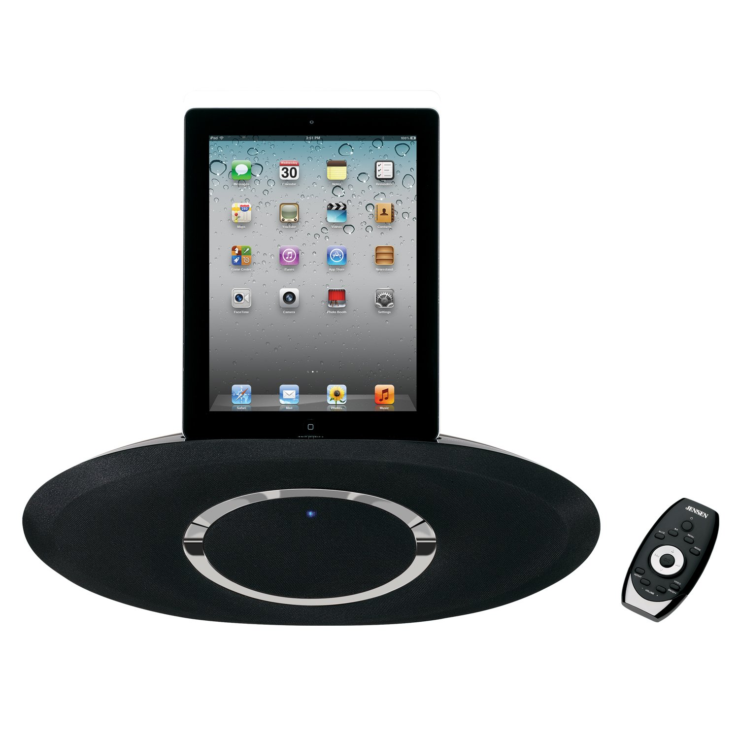 Amazon.com: Jensen JiPS-310i iPad/iPod/iPhone 2.1 Music System with  Auxiliary Input and Sensor Touch Keys: Home Audio & Theater