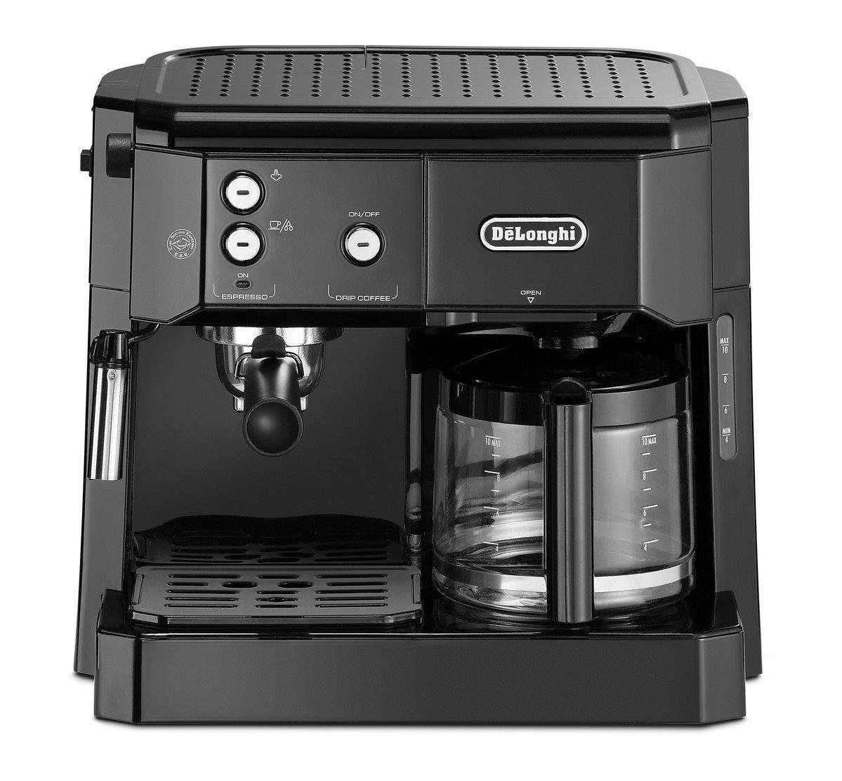DeLonghi BCO 411.B Cafetera combinada, independiente, totalmente automática, 1750 W, 1L, Acero inoxidable, Negro