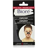 Biore Deep Cleansing Charcoal Pore Strips, for Blackheads, Travel Size