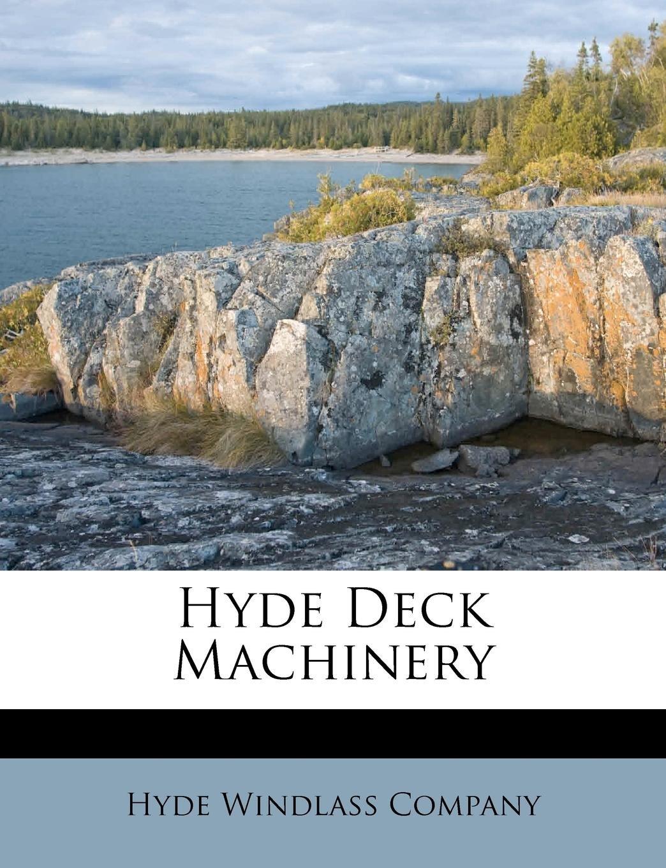 Hyde deck machinery PDF