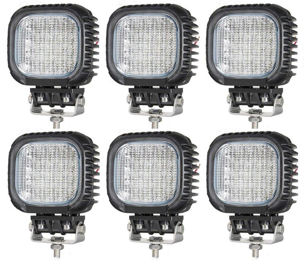 Annisking 6 x 48 Wスポットビーム30度LED作業ライトフォグライトジープSUV ATVオフロードトラック B00XW22GW8  - -