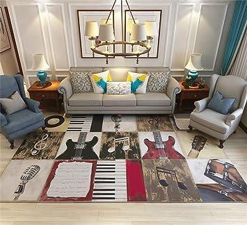 Designer Modern Area Teppich Für Wohnzimmer   Musikinstrument Nähen Muster    Nordic Style Border Mat Für