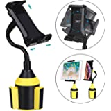 MIAODAM 360° Swivel Cup Holder Phone Mount Universal Adjustable Gooseneck Cup Holder Cradle Car Mount for Cell Phone iPhone 11//XR/XS/iPad/iPod Electronics Devices from 4.7'' to 10.5''