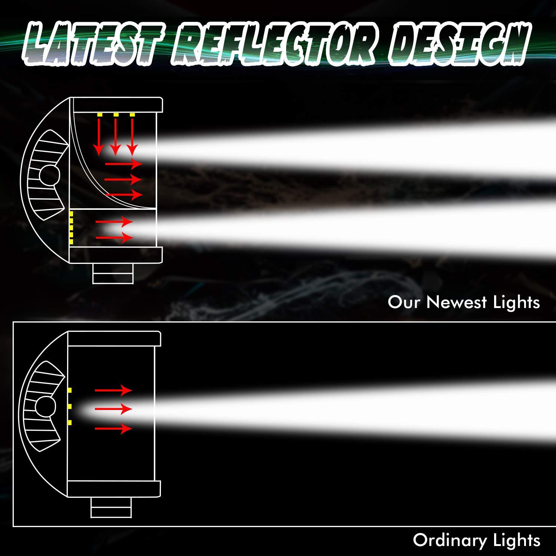 Teochew-LED 4 Inch Cree Light Bars LED Cube Lights Spot Flood Combo Light Waterproof Off Road Driving Lights Work Lights for Truck Jeep Pickup ATV UTV Tractor LED Pods