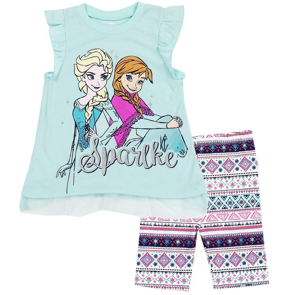 Disney Frozen Little Girls 2 Piece Bike Shorts Set