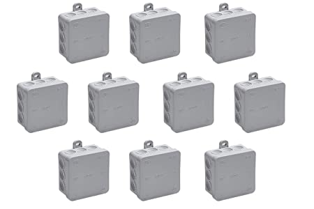 Meister 7463020 - Caja de derivación (75 x 75 x 40 mm, IP54, 10 Unidades): Amazon.es: Bricolaje y herramientas