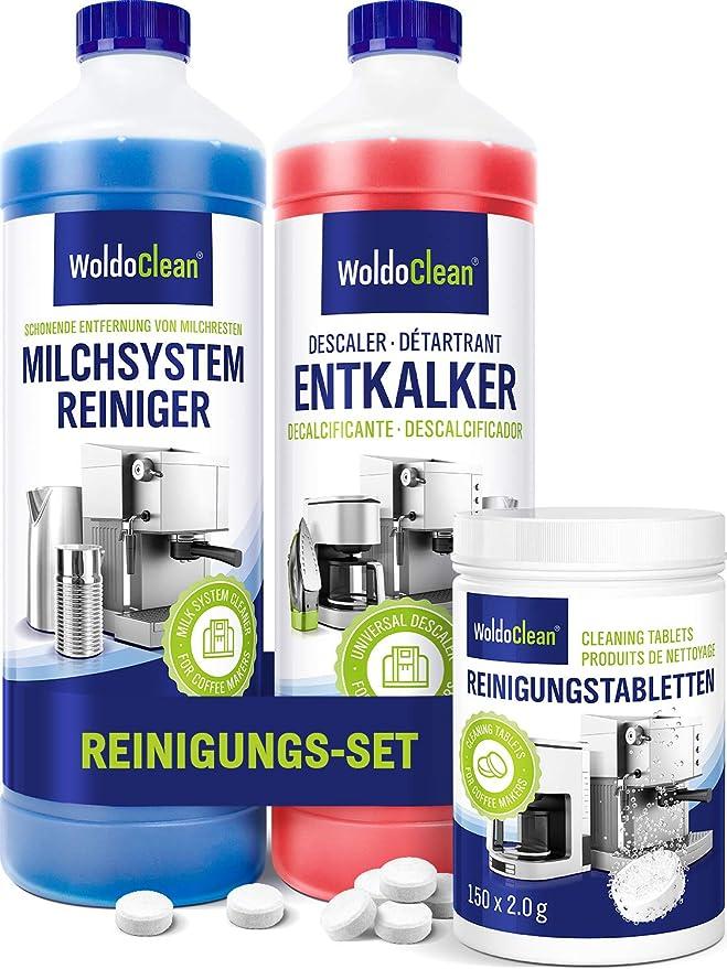 Kit de cuidado para cafeteras automáticas y cafeteras – descalcificador, limpiador de espuma de leche y pastillas de limpieza: Amazon.es: Alimentación y bebidas