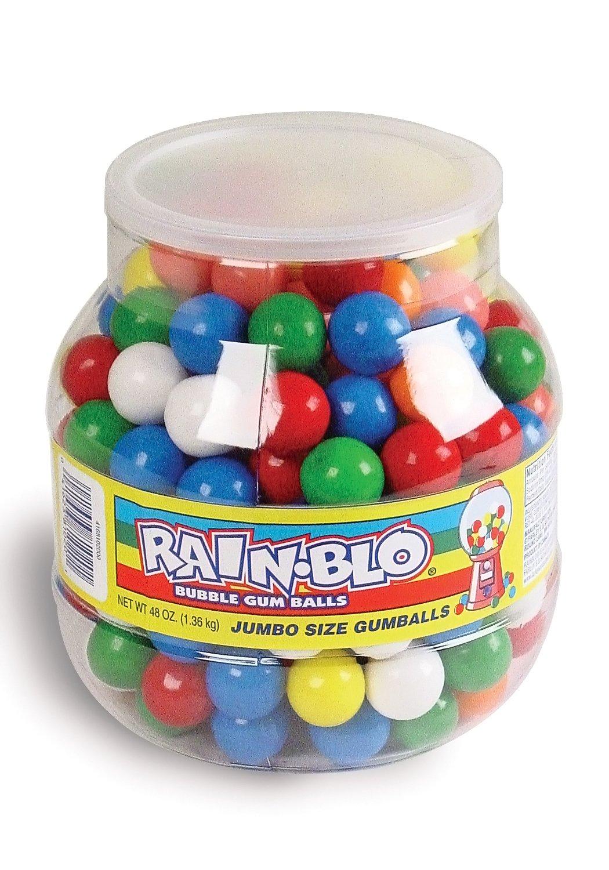 Rain-blo Bubble Gum Balls, 48 Ounce Jar