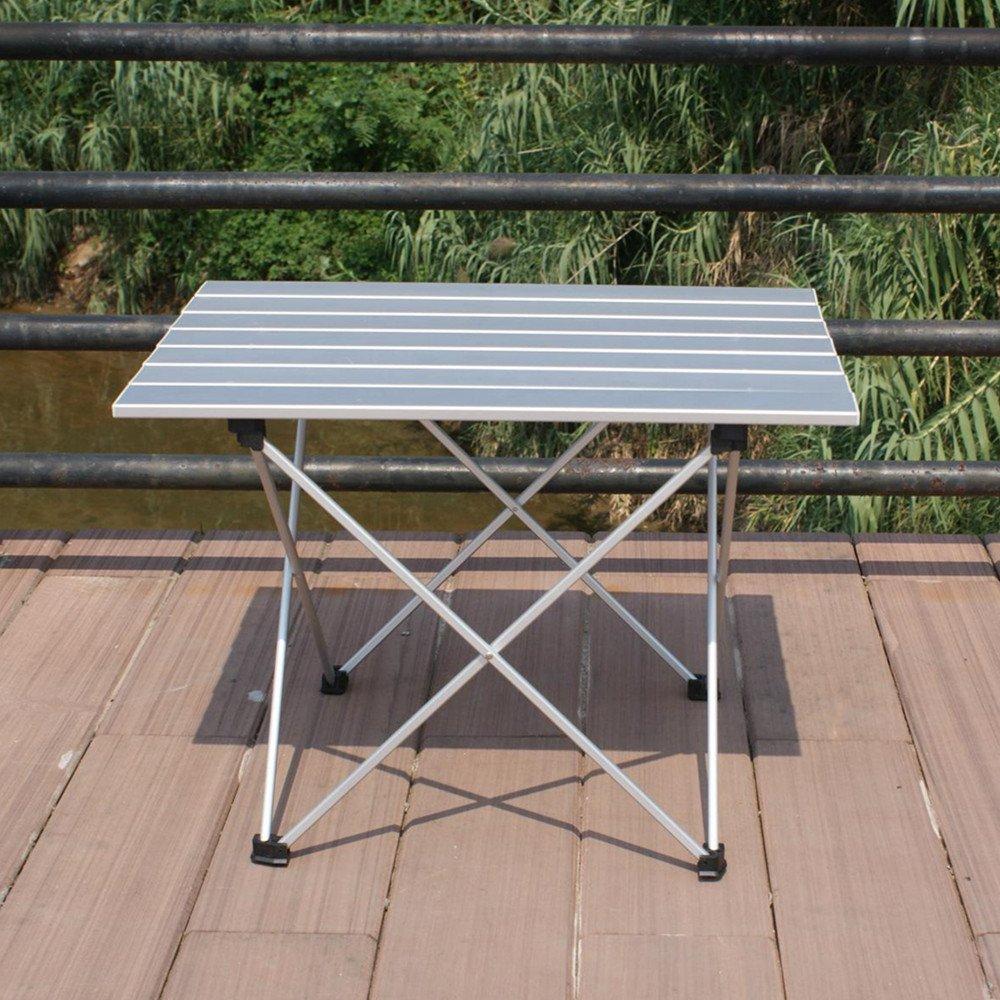 Roll up portátil mesa de camping para barbacoa cocina juegos ...