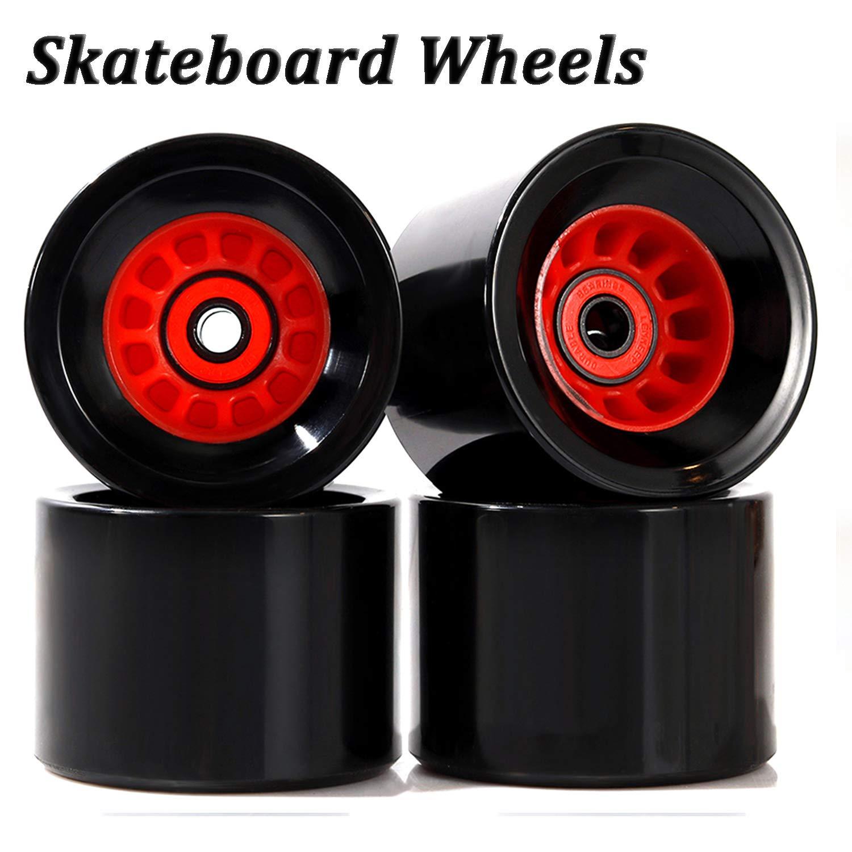 LOSENKA Skateboard Wheels 70mm 80a with Bearings Spacers Cruiser Wheels (Pack of 4) by LOSENKA