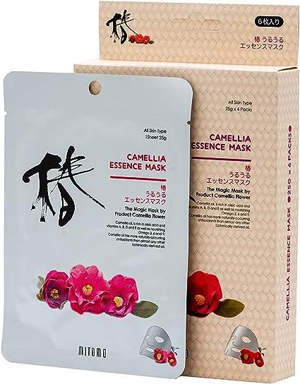 Mitomo Camellia Essence Masks Pack Of 6 Sheet Masks The Magic Mask By Product Camellia Flower Amazon Co Uk Beauty