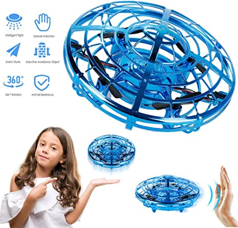 UFO Flying Helicopter Indoor Games for Kids Games with LED Lights Christmas Birthday Gifts Smartrich Hand Controlled Flying Ball UFO Mini Drone