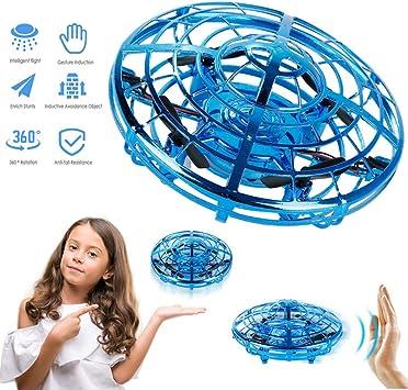 UK Mini Drone Quad Induction Levitation UFO USB Charging LED Light Children Toys