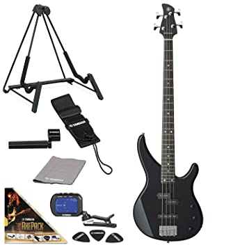 Yamaha TRBX174 bajo eléctrico Guitarra paquete con axepack Pack de accesorios