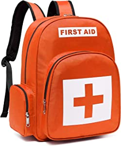 Gatycallaty First Aid Bag Empty Medical Backpack for Emergency Bags First Responder Trauma Treatment with 13 Pockets for School Outdoor Hiking Travel Field Trips Camping Daycare