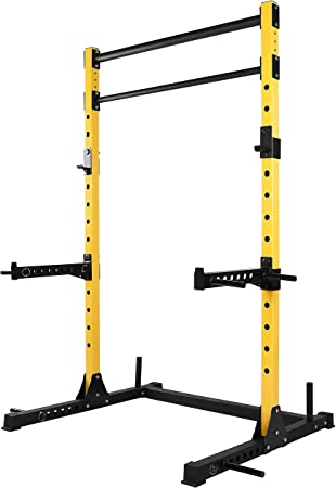 side facing hulkfit multi-function adjustable power rack