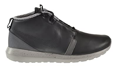 finest selection 7932c e2e22 Nike Roshe Run NM Premium Men s Sneaker Boots Black Wolf Grey-Dark Grey  684704