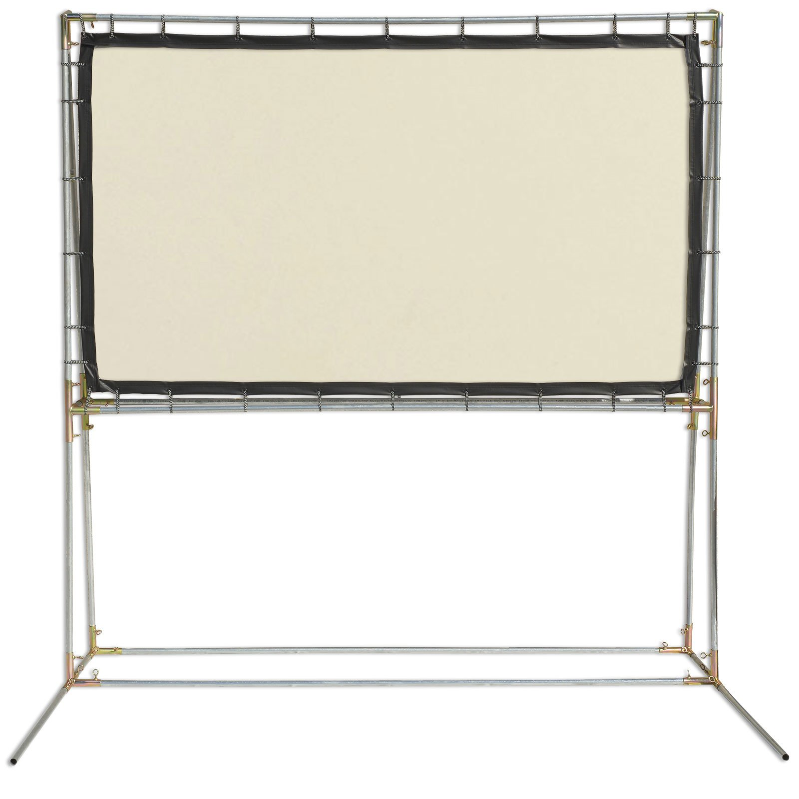 Carl's (4:3) 6.75x9 Ft, White Rear Projection FreeStanding Screen Kit for Virtual Halloween Windows, Halloween Projection Videos