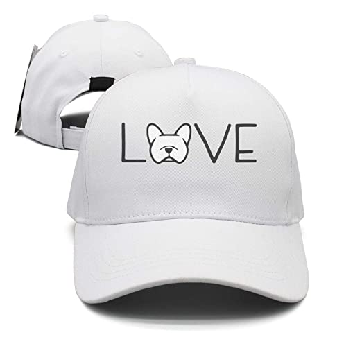 97d62d193424f Image Unavailable. Image not available for. Color  Love French Bulldog I  Love Dogs Snapback Hats ...