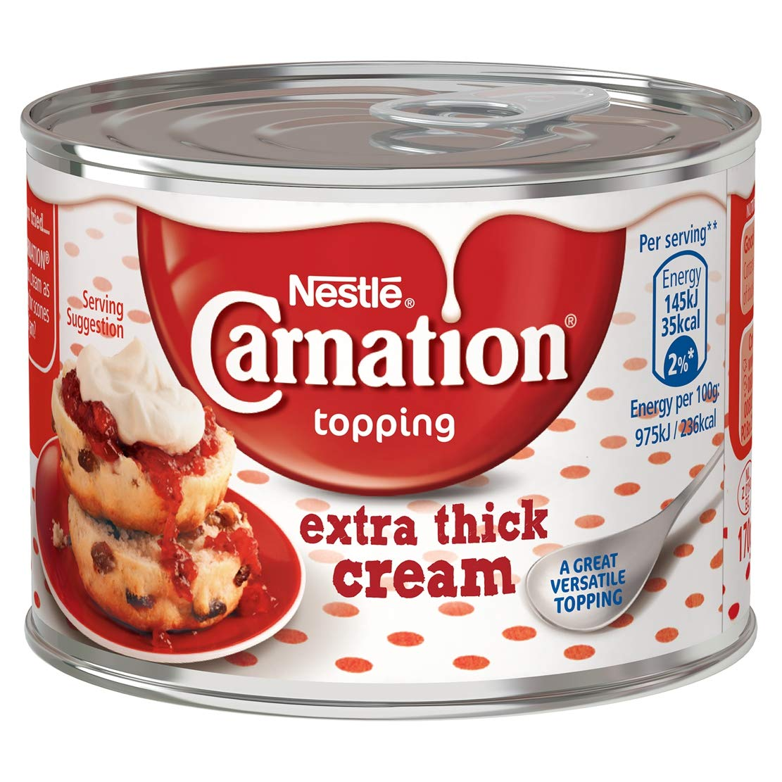 Nestlé Carnation Extra Thick Cream Topping, 170 g (Pack of 12)
