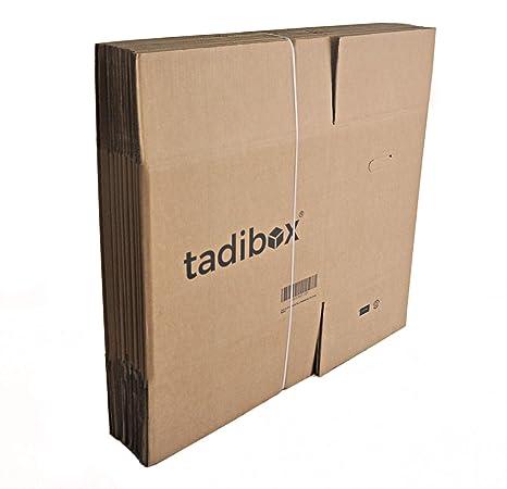 Pack 10 Cajas de Cartón con Asas Extra Resistentes - 470x350x390mm - VARIOS TAMAÑOS - Canal Doble Alta Calidad Reforzado - Cajas Mudanza y Almacenaje ...