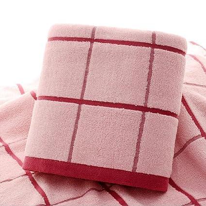 saiyi rosa amarillo y beige toalla de baño (Entramado algodón suave absorción de agua toalla