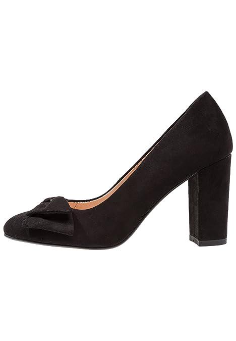 3a344d5c2 Anna Field Tacones de Gamuza - Zapatos Elegantes con Lazo - Zapatos Altos  con Tacón de Bloque y Punta Redonda - Tacones de Mujer  Amazon.es  Zapatos  y ...