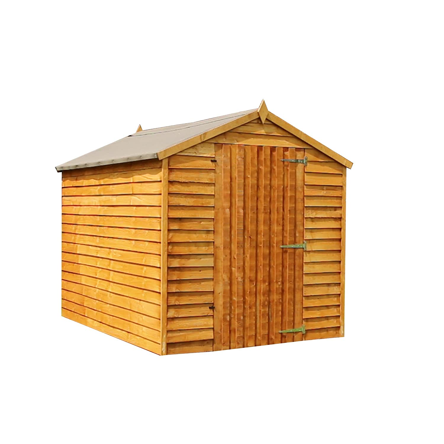 Overlap Wooden Windowless Apex Garden Shed Single Door