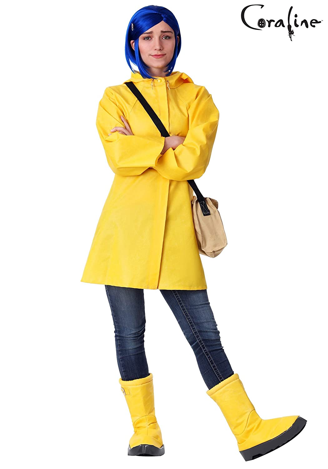 a71d027dc13 Amazon.com: Bayi Co. Adult Coraline Costume Yellow: Clothing