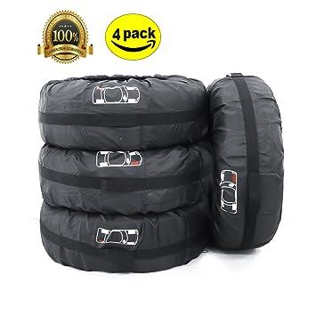 ELR Fundas para Neumáticos de Ruedas Recambio Cubierta Caso Protector Bolsas de Almacenaje Neumáticos Pequeños Spare Tire Tote Cover 66 cm de Diámetro: ...