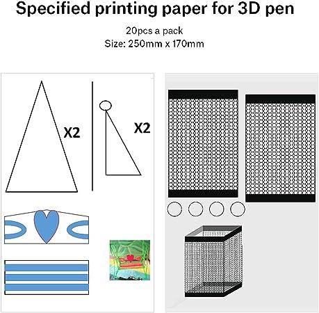 Mat del Silicone di Disegno con Base Geometrica dei Modelli Newin Star 3D Penna Mat Strumenti di Grande 3D Penna Disegno per 3D Penna Blu 2PCS