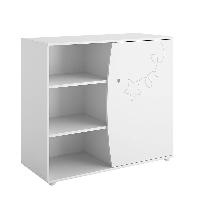 Gami ADELE Commode 1 Porte Blanc - L102 P45 H90 cm